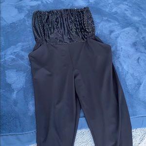 Black Sequin Jumpsuit